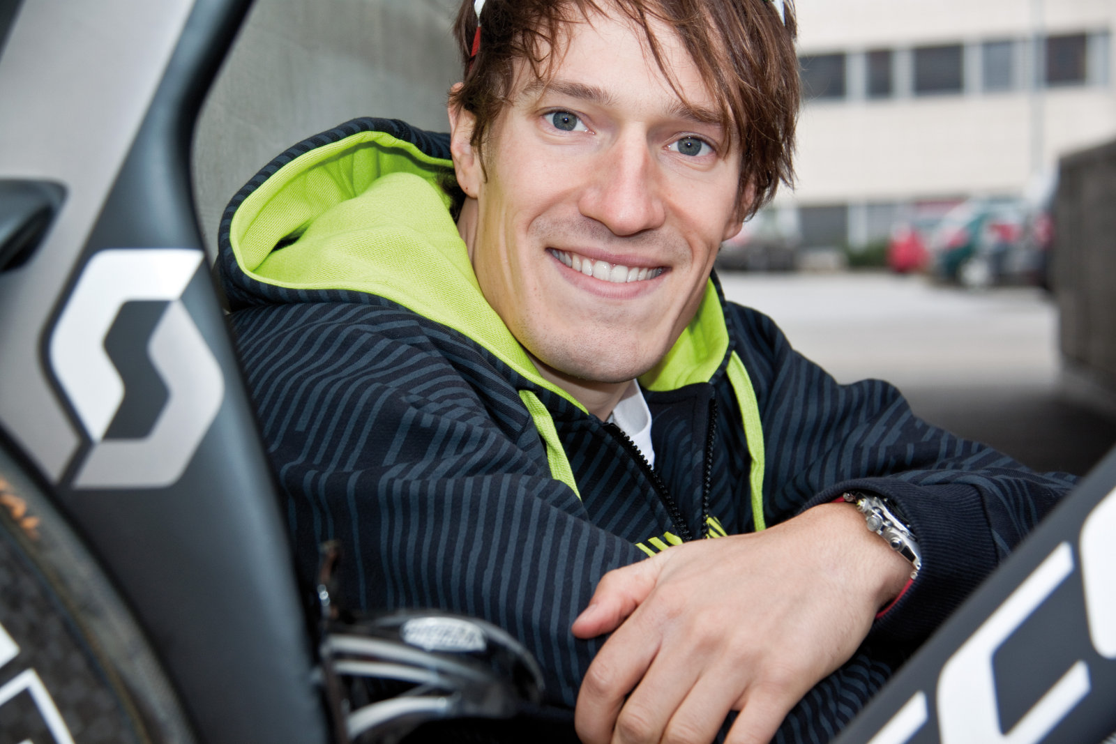 Sebastian Kienle, Hawaii-Sieger und Träger der BWTV Ehrennadel in Gold.