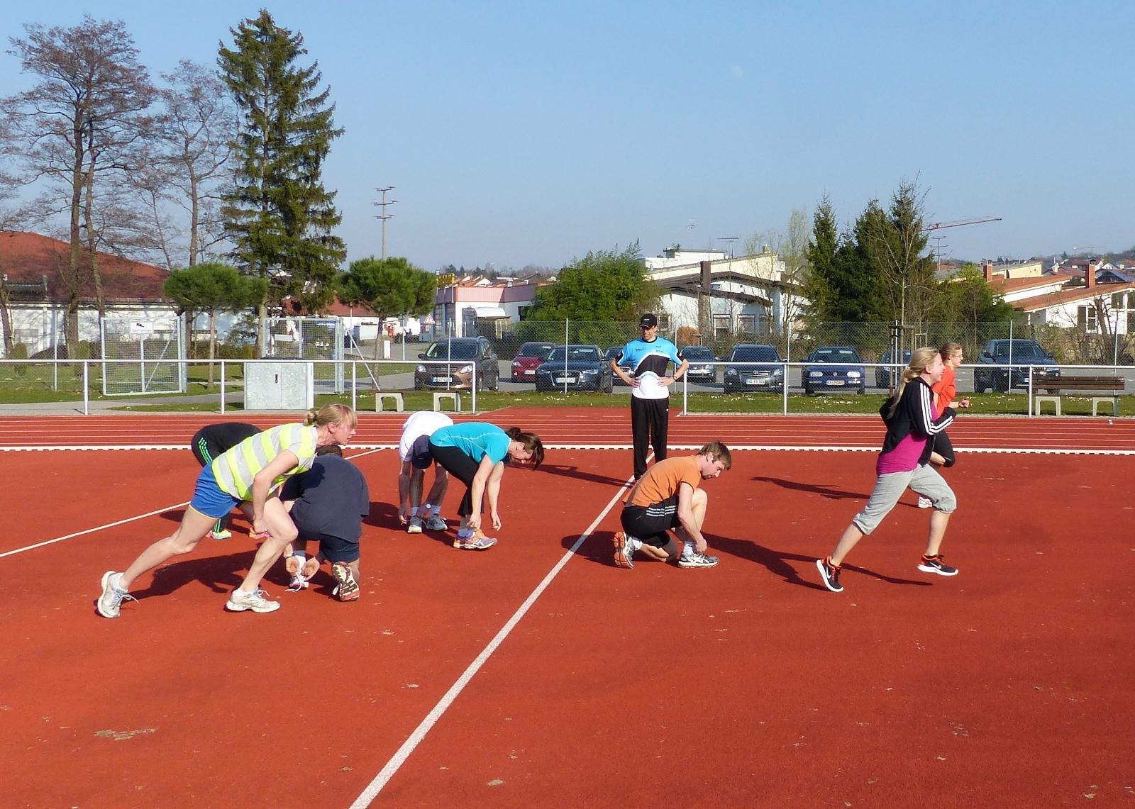 """Praxisinhalte sind zentraler Bestandteil der Lehrerfortbildung des BWTV zum Thema """"Triathlon in der Schule""""."""