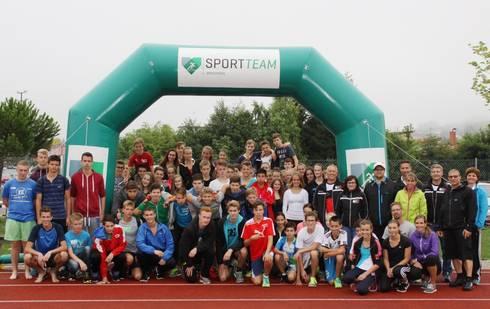 Insgesamt rund 80 Schülerinnen und Schüler absolvierten den ersten Östringer Schüler Triathlon.