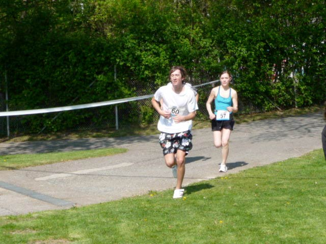 Florian und Karoline beim Zieleinlauf