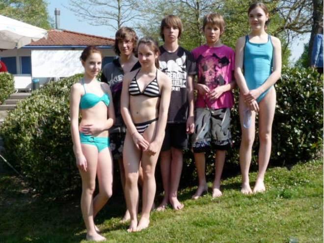 Unsere Schulmädchen beim Swim&Run