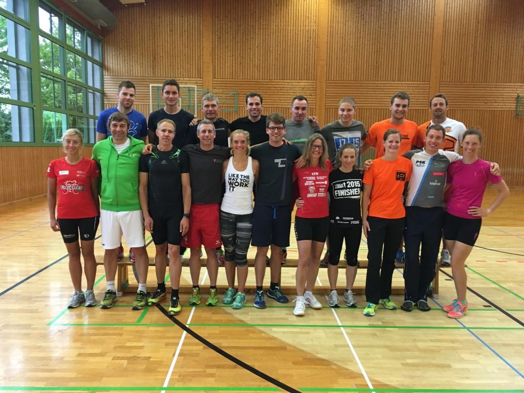 Die Teilnehmerinnen und Teilnehmer des Prüfungslehrgangs im August 2016
