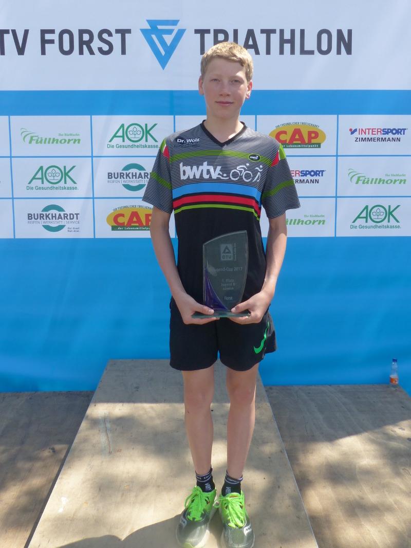 Jan Diener (TSF Tuttlingen) gewann das Auftaktrennen des DTU Jugendcups in der Jugend B. (Foto: Peter Mayerlen)